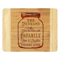 "Stamp Out ""Bless This Home"" Mason Jar 11-Inch x 14-Inch Bamboo Cutting Board"