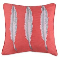 Levtex Home Sherie Feathers Square Throw Pillow in Coral