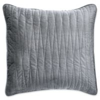 Brielle Velvet Square 16-Inch x 16-Inch Throw Pillow Cover in Grey