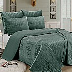 Brielle Velvet Full/Queen Quilt Set in Sea Foam