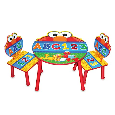 Perfect Sesame Street® Elmo Three Piece Table And Chair Set