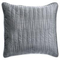 Brielle Velvet European Pillow Sham in Grey