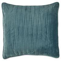 Brielle Velvet European Pillow Sham in Sea Foam