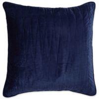 Brielle Velvet European Pillow Sham in Navy