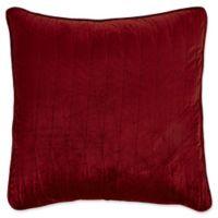 Brielle Velvet European Pillow Sham in Burgundy