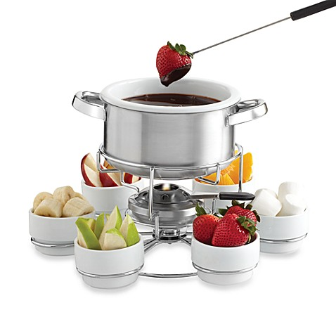 my perfect kitchen stainless steel lazy susan fondue set bed bath beyond. Black Bedroom Furniture Sets. Home Design Ideas