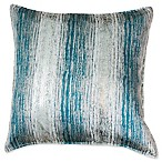 Thro Christopher Metal Square Decorative Pillow in Blue/Gold