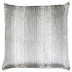 Thro Christopher Metal Square Decorative Pillow in Silver