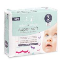 aden + anais® Arin 32-Count Size 3 Wave and Butterfly Disposable Diapers in Red/Peach