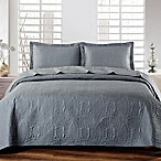 De Moocci Chinese Coin King Coverlet Set in Dark Grey