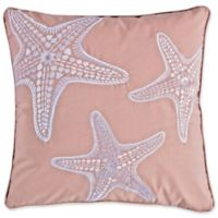 Levtex Home Sea Isle Starfish Square Throw Pillow in Blush
