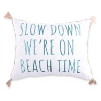Levtex Home Kapalua Bay Beach Time Oblong Throw Pillow in White