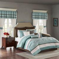 Madison Park Essentials Jelena 24-Piece Queen Complete Comforter Set in Blue