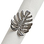 Tropical Leaf Metal Napkin Ring