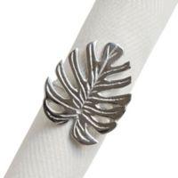 Tropical Leaf Metal Napkin Ring
