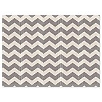 Parklon Chevron Portable Folding Play Mat in Grey/Ivory
