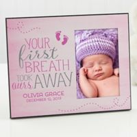 You Took Our Breath Away Personalized 4-Inch x 6-Inch Picture Frame