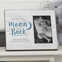 """Love You to the Moon"" Personalized 4-Inch x 6-Inch Picture Frame"