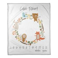 Designs Direct Forest Animals Milestone Throw Blanket in White