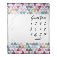 Designs Direct Colorful Scales Milestone Throw Blanket in Pink
