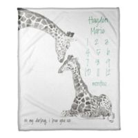Designs Direct Darling Giraffe Milestone Throw Blanket in Grey