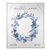 Designs Direct Watercolor Milestone Throw Blanket in Blue