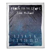 Designs Direct Reach for Stars Milestone Throw Blanket in Blue