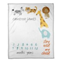 Designs Direct Stay Wild Milestone Throw Blanket in White