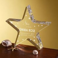 """A Star is Born"" Engraved Keepsake Star"