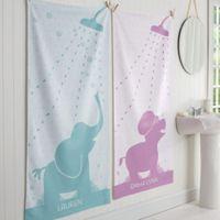 Baby Zoo Animals Personalized Bath Towel