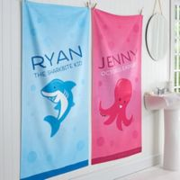 Sea Creatures Personalized Bath Towel