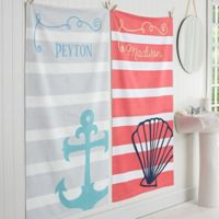 Nautical Personalized Bath Towel