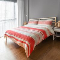 Designs Direct Dots and Stripes King Duvet Cover in Red