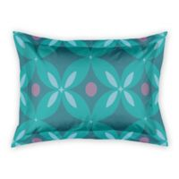 Designs Direct Abstract Quatrefoil King Pillow Sham in Teal