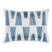 Designs Direct Watercolor Triangles Standard Pillow Sham in Blue