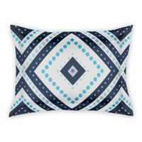 Designs Direct Dotted Squares King Pillow Sham in Blue