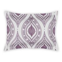Designs Direct Boho Diamonds King Pillow Sham in Purple