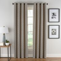 Boratta Geo 95-Inch Grommet Top Window Curtain Panel in Mocha