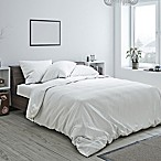 Heritage Reversible King Duvet Cover in White