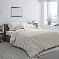 Heritage Reversible Twin Duvet Cover in Ivory