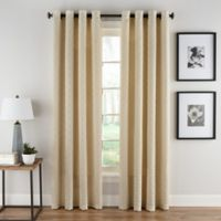 Boratta Geo 108-Inch Grommet Top Window Curtain Panel in Ivory