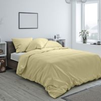 Heritage Reversible Twin Duvet Cover in Wheat
