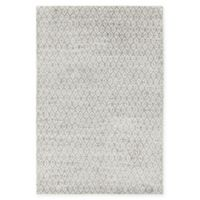 Chandra Rugs Isla Hand-Knotted 7'9 x 10'6 Area Rug in Grey/White