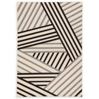 Jaipur Living Begley Indoor/Outdoor 7'11 x 10' Area Rug in Black/Grey