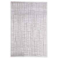 Jaipur Palmer Abstract 7'6 x 9'6 Area Rug in Silver