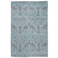 Jaipur Hillier 2' x 3' Hand Knotted Accent Rug in Grey/Turquoise