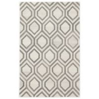 Jaipur Hassan 5' x 8' Hand Tufted Area Rug in White/Grey