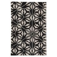 Jaipur Haige 2' x 3' Indoor/Outdoor Accent Rug in Black