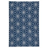 Jaipur Haige 2' x 3' Indoor/Outdoor Accent Rug in Navy