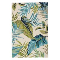 Jaipur Catalina Fraise 2' x 3' Indoor/Outdoor Accent Rug in Blue/Green